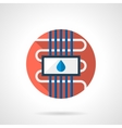 Water floor heating round color flat icon vector image