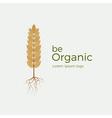 Be organic logo vector image vector image