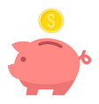 piggy bank flat icon business and finance0 vector image