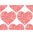wire heart pattern vector image vector image