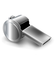 Metal whistle vector image