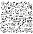 art tools - doodles vector image