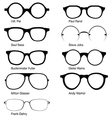 Eyeglasses of Designers vector image