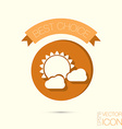 sun behind the cloud the weather icon vector image