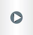 play icon button design vector image