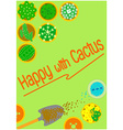 graphics background cactus vector image
