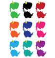 dino cartoon funny color vector image vector image