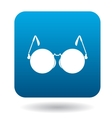 Glasses for blind icon in simple style vector image