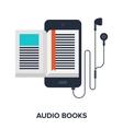 audio books vector image