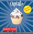 cupcake poster design vector image