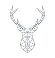 deer head in polygonal style vector image