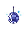 flat cartoon disco ball with stars vector image