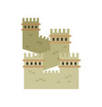 great wall of china colored landmark icon in flat vector image