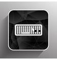 icon keyboard laptop input put key alphabet tool vector image