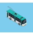 Isometric 3D Electric Trolleybus vector image