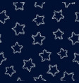 silver stars on dark background seamless pattern vector image