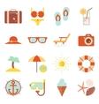 Summer vacation color beach resort accessorize vector image