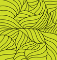 Yellow abstract ornament with waves and black dots vector image