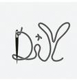 word diy needle vector image