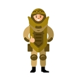 Demolitions Man in Bomb suit Flat style vector image