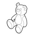 Teddy bear icon outline style vector image