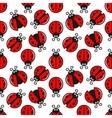 Ladybug Seamless On White Design Background vector image