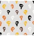 Halloween print with skulls funny skulls vector image