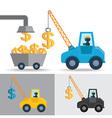 Money Crane Idea vector image