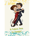 Takes two to tango vector image