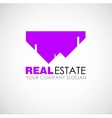 Real estate logo design Real Estate business vector image
