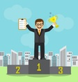 businessman achieved success and recognition vector image