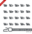 Folder Icons Basics vector image