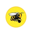 Bee honeycomb icon vector image