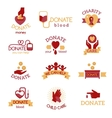Donate badges vector image
