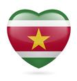 Heart icon of Suriname vector image