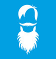 male avatar with beard icon white vector image