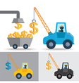 Money Crane Idea vector image
