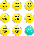 Smiley stickers vector image