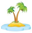 Tropic Island with Coconut Palm vector image