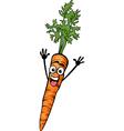 cute carrot vegetable cartoon vector image