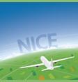 nice flight destination vector image