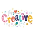 word creative decorative type lettering text vector image