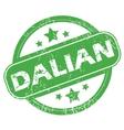 Dalian green stamp vector image