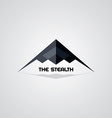 stealth ship logo template vector image