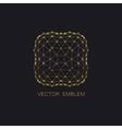 art-deco golden emblem vector image
