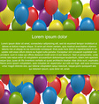 Color balloons background for text vector image