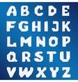 crystal alphabet for design vector image