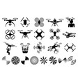 drones and quadcopters vector image