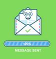 Envelope emoticon flat email vector image