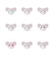 minimalistic flat mouse emotions icon set vector image